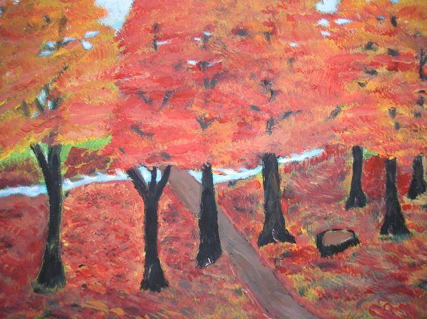 October Trees - AMc -2014