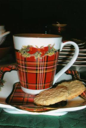 Christmas mug and cookies