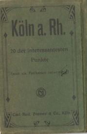 German folding postcard