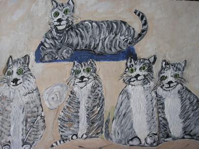 Five Cats - AMc - 2016