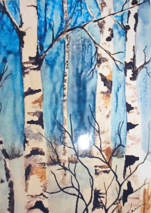 Karen Cullaton - In The Moon of Winter - Alcohol Ink on Yupo