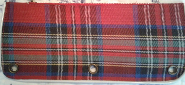 Plaid pencil case