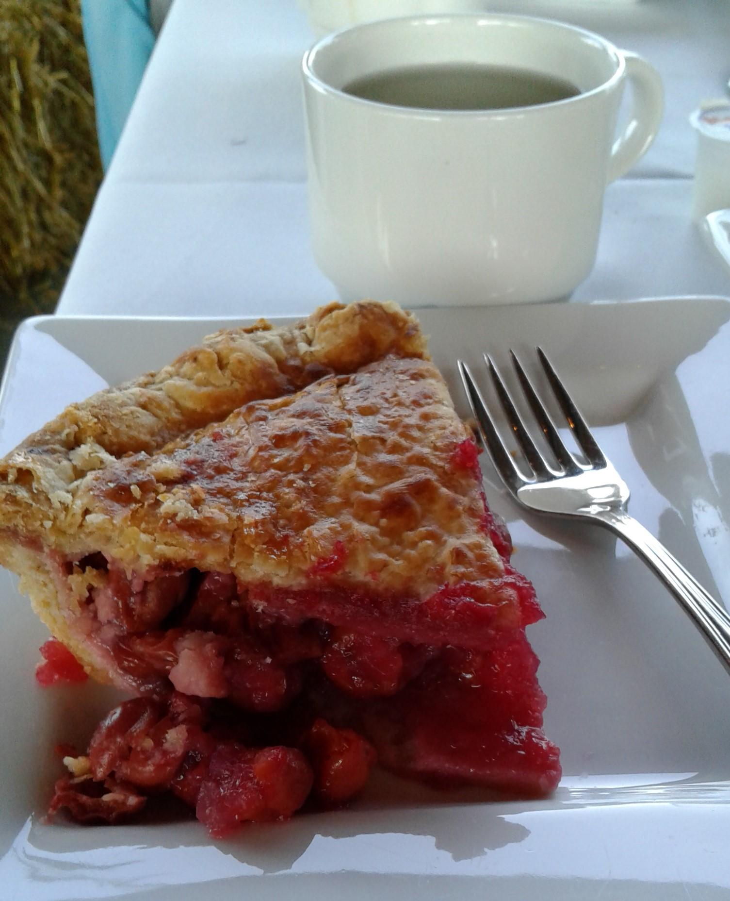 Harvestfest Pie and coffee