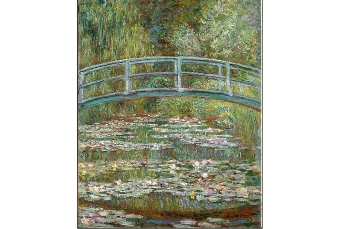 Bridge-over-a-Pond-of-Water-Lilies - Monet