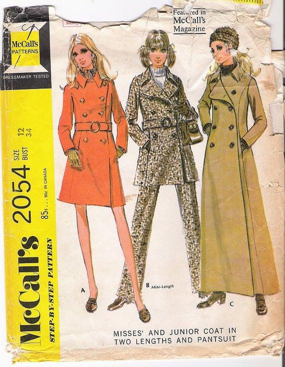 Maxi coat pattern