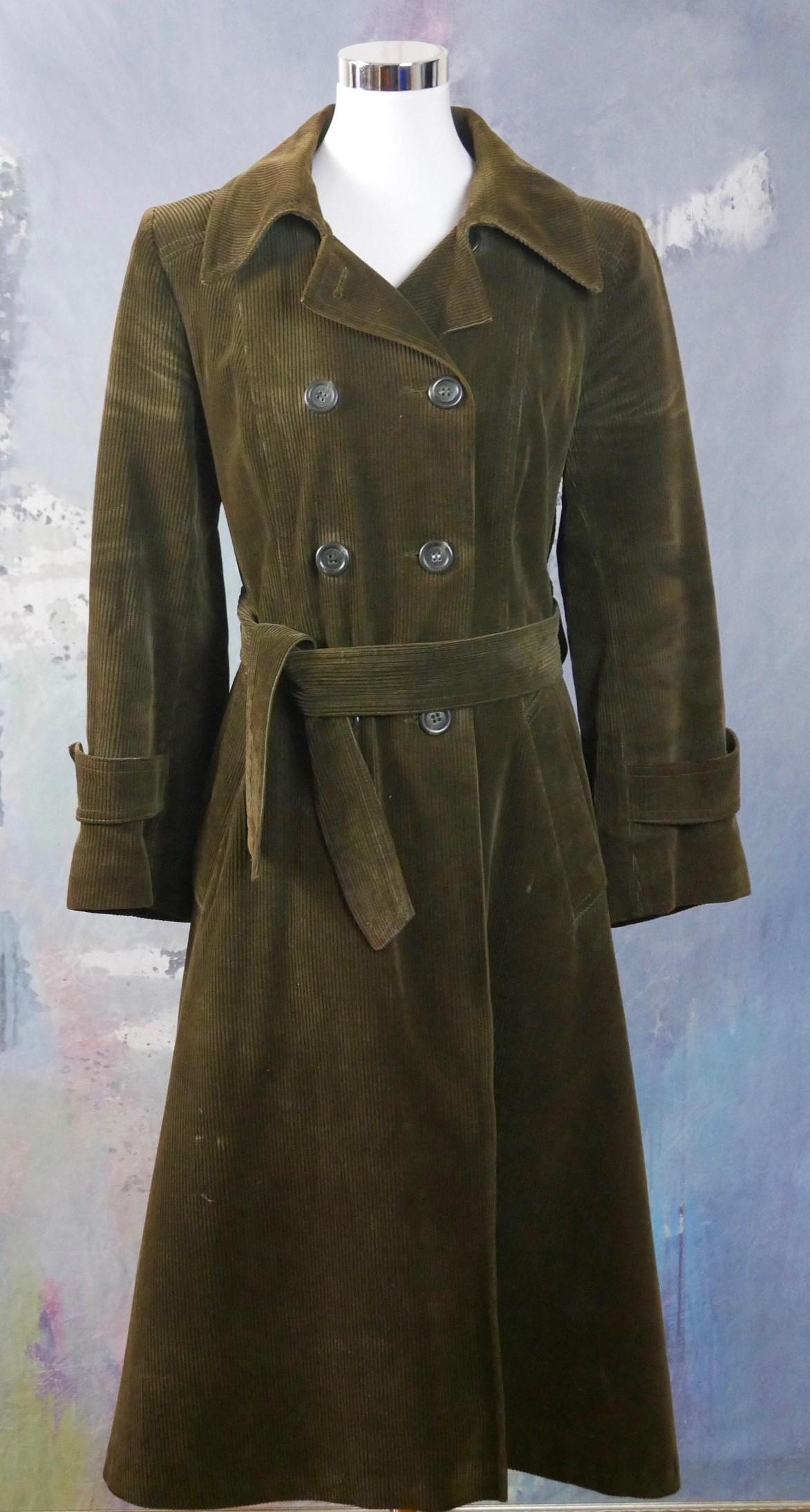 Brown corduroy winter coat