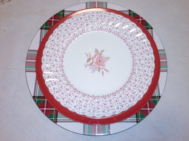 Pink and red plates