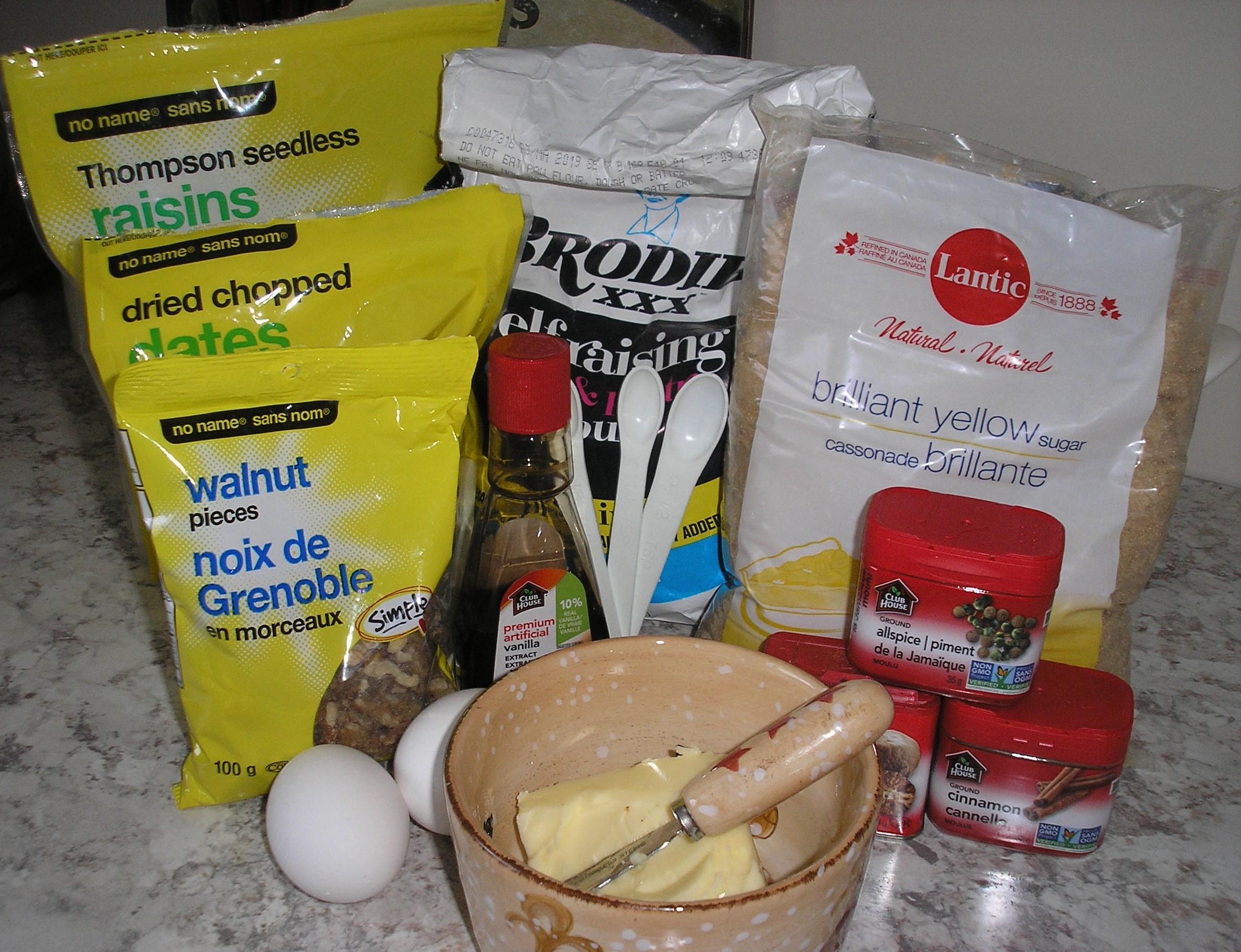 Hermit cookie ingredients