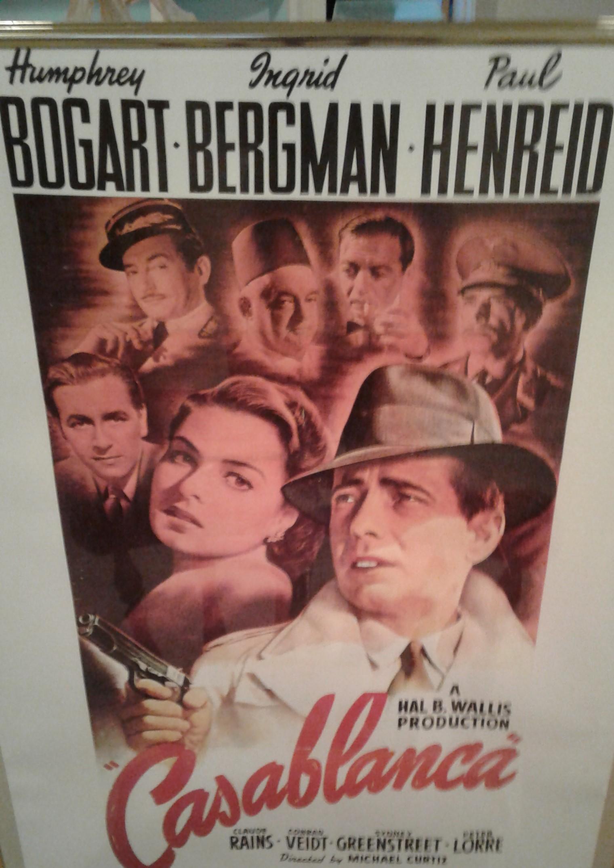 Vintage Casablanca poster