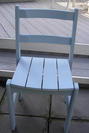 Chair after Serene Blue chalkpaint