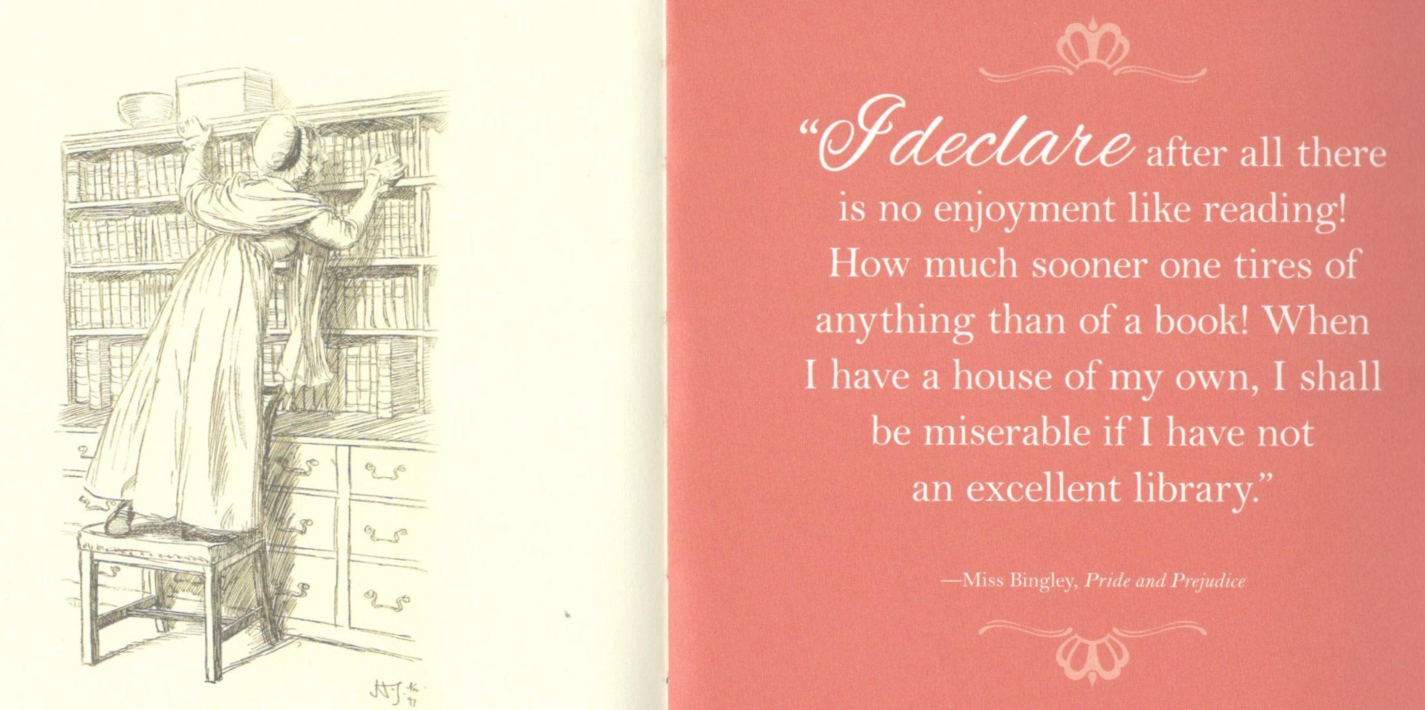 Jane Austen quote re libraries 2 (2)