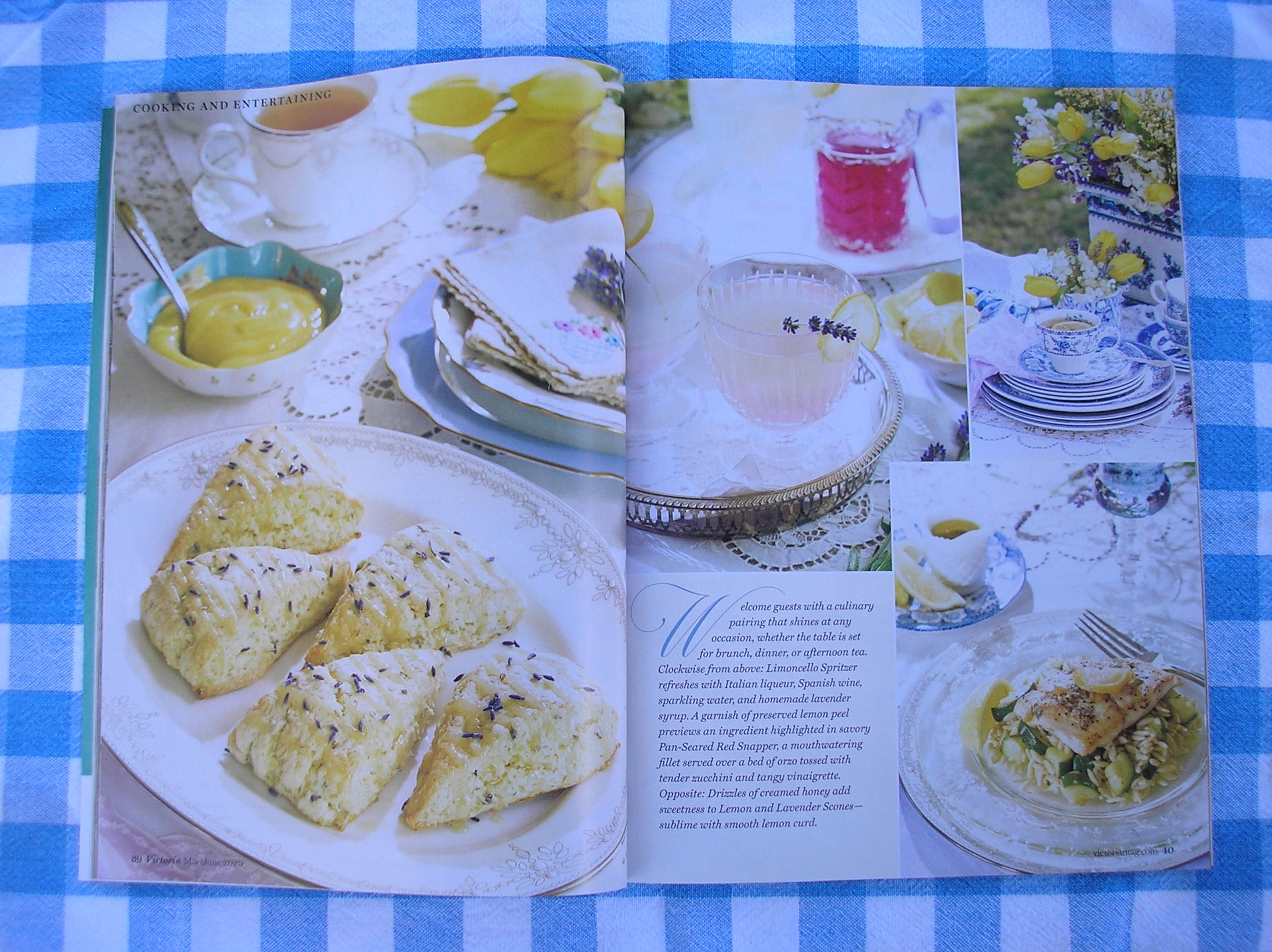 Lemon and lavender scones  Victoria - Victoria