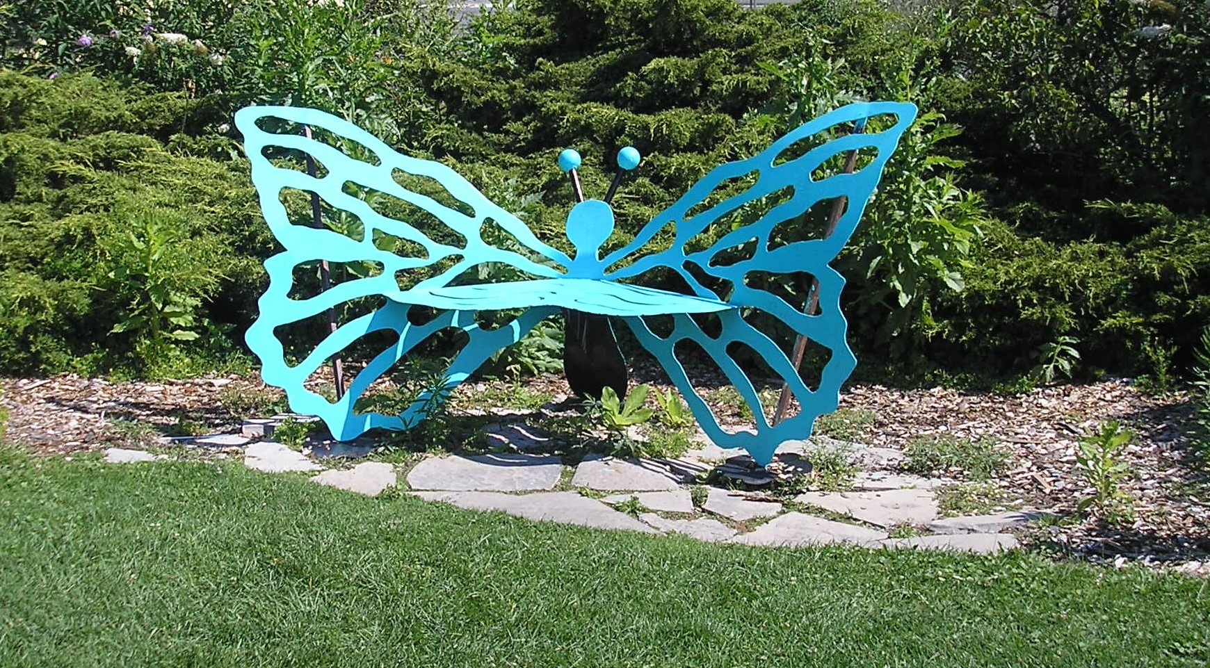 Centennial Park - Bench turquoise