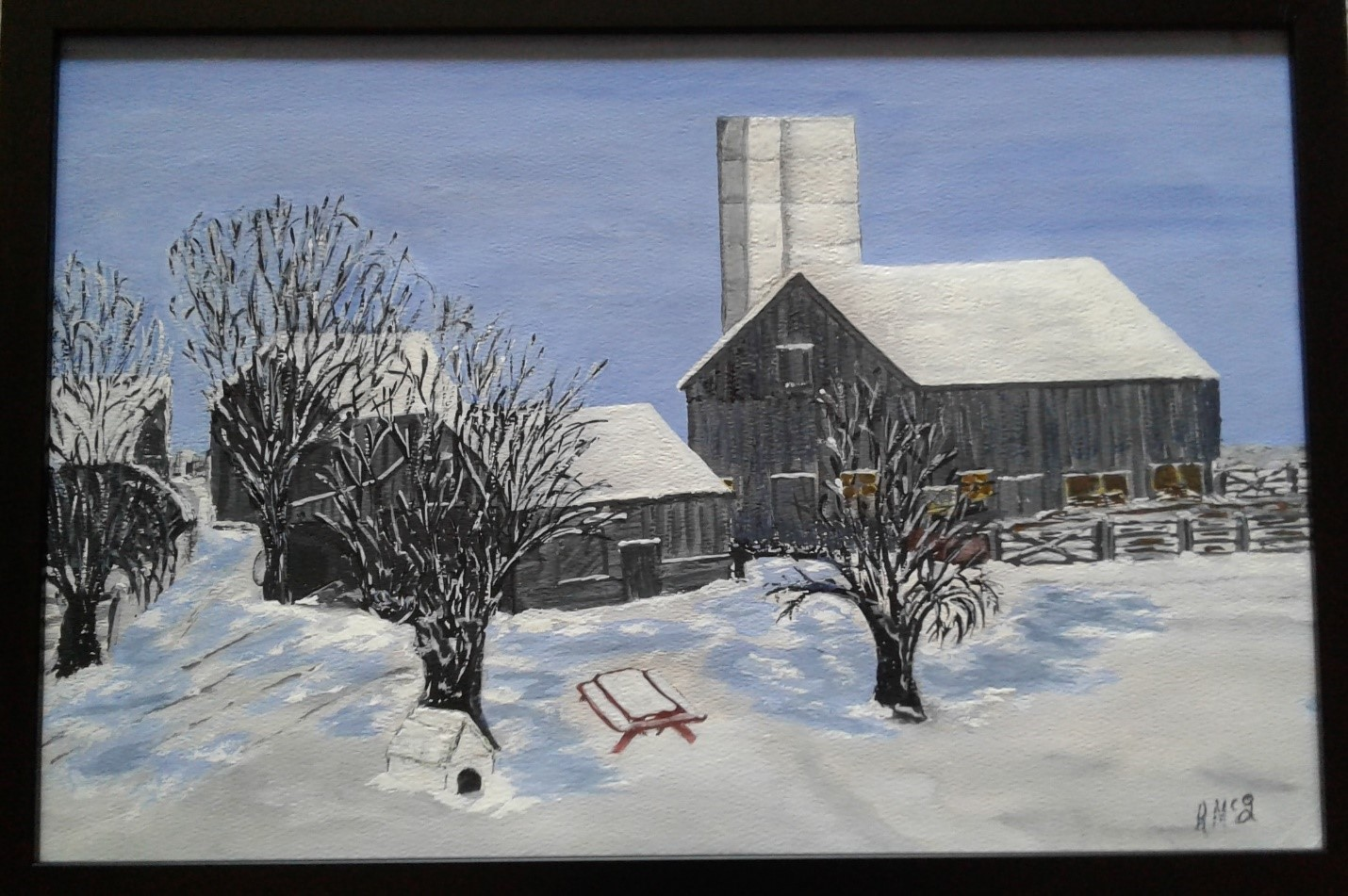The Barn in Winter (2005)
