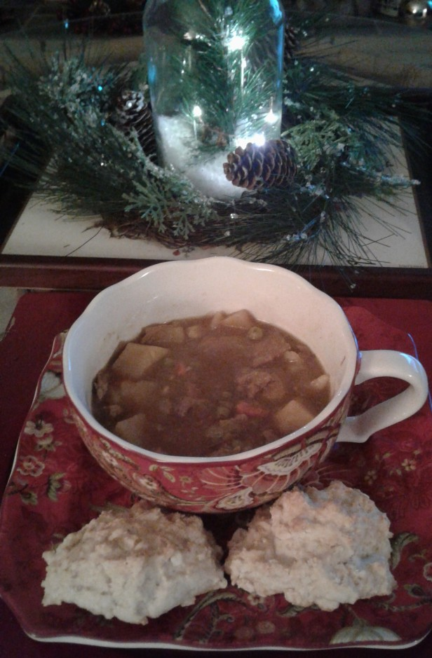 Beef stew on a winter's night